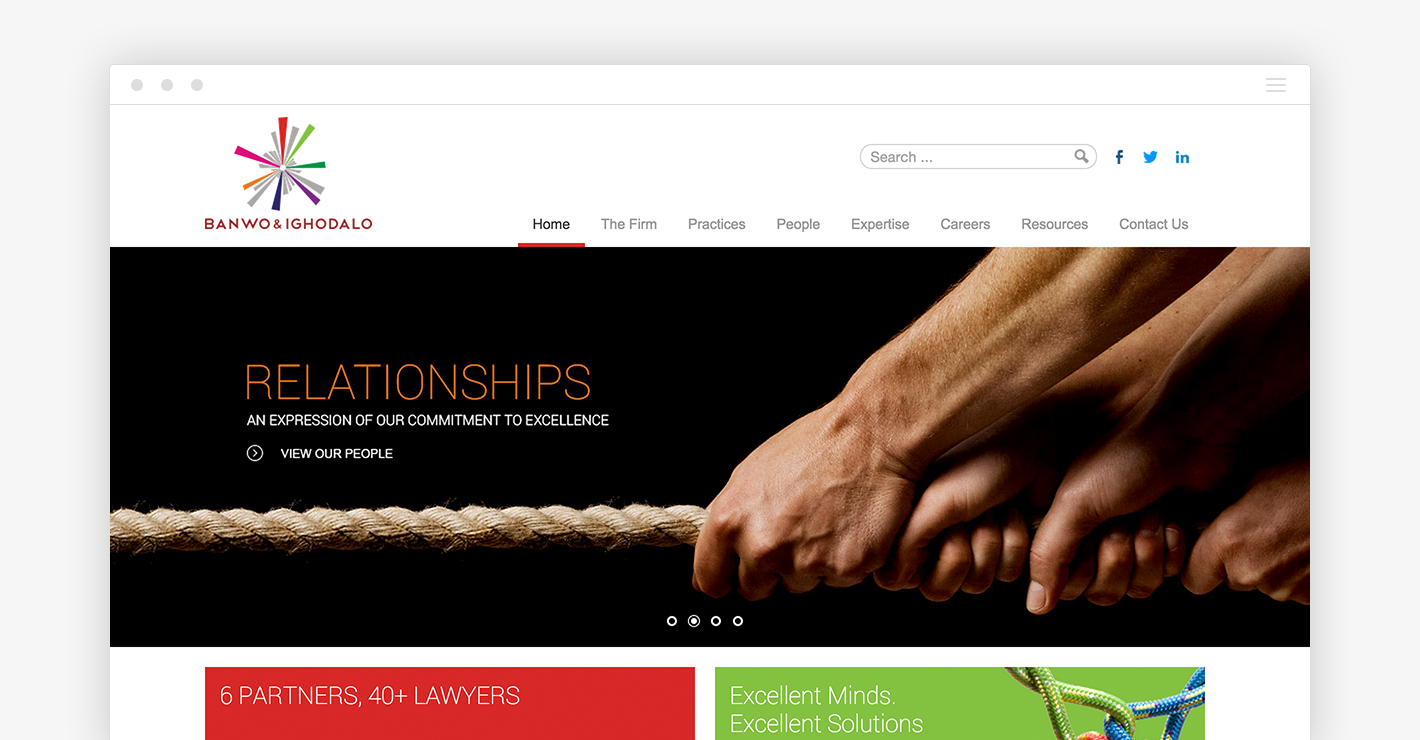 Banwo & Ighodalo website redesign to position the company for the coming years