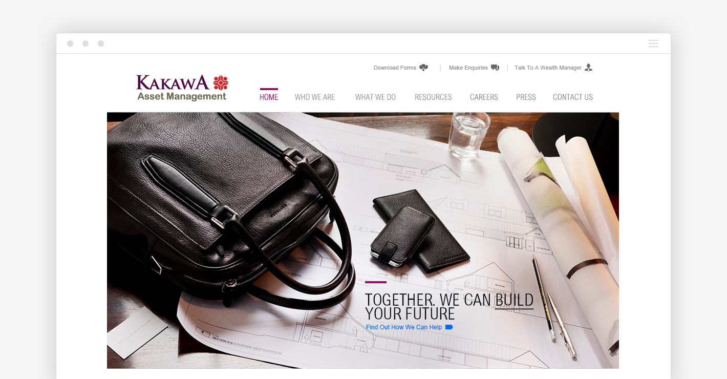 Kakawa Asset Management redesigned was geared towards attracting customers by clearly stating the value proposition