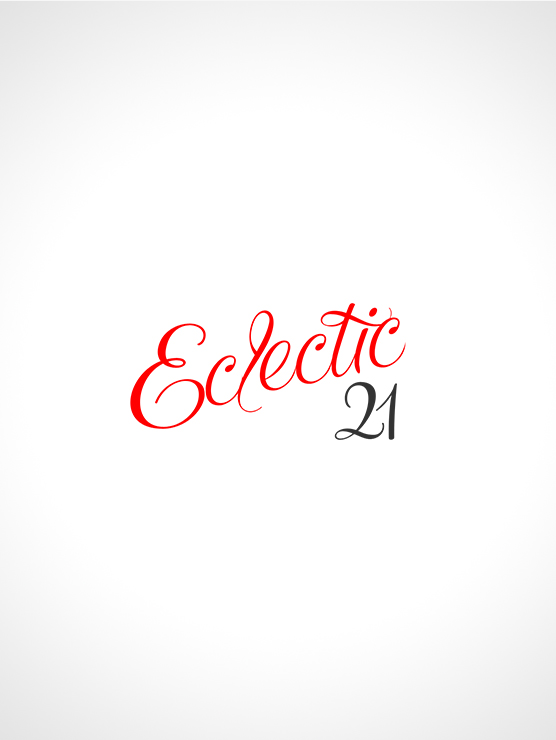The Eclectic 21 brand is a redesign of the previous logo with a cursive touch. It works to align the business with the creative in a developing industry